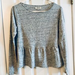 Madewell Heather gray linen top